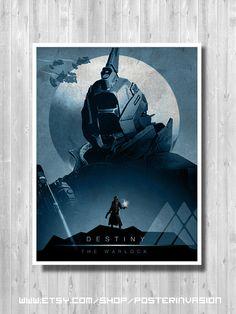 Warlock print Warlock poster Destiny videogame by PosterInvasion
