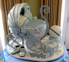 Baby Carriage | 3-D baby carriage with baby shoes & blocks e… | Flickr
