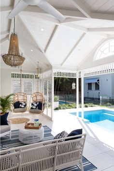 Outdoor Living Rooms, Outdoor Spaces, Future House, Fresco, I Lak, Home Reno, House And Home Magazine, Coastal Homes, House Goals