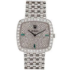 ROLEX Extremely Rare All-Original Diamond & White Gold Watch