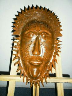 Máscara de cerâmica - Artes Rei. - Tit: Sol