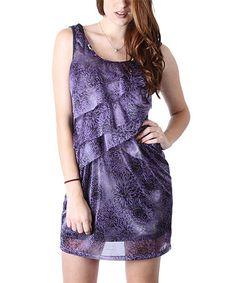 Loving this Plum Floral Sequin Tiered Dress on #zulily! #zulilyfinds