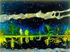 Ryoji Arai illustration trees