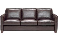 brown leather sofa in austin