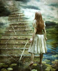 Where have you been? What will you find at the top of the stairs? How do you feel about your journey?