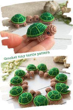 Octopus Crochet Pattern, Crochet Animal Patterns, Crochet Patterns Amigurumi, Crochet Animals, Crochet Dolls, Crochet Stitches, Crochet Turtle Pattern Free, Free Pattern, Cute Crochet