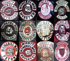 new zealand mongrel mob gang chapter patches Motorcycle Logo, Motorcycle Clubs, Motorcycle Jacket, Chicano Lettering, Mongrel, Biker Clubs, Biker Quotes, Hells Angels, Biker Patches