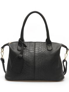 Black+Zipper+Serpentine+PU+Bag+36.26