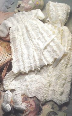 crochet christening gown