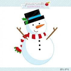 Snow Fun Snowman V1 - Snowman Digital Graphic , Christmas Clipart #Christmas #holidays #crafts #diy