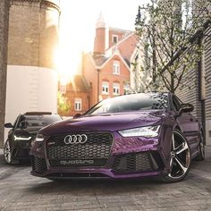 $tuningcars - Tuning Car Pictures RS7 vs RS6 | Photo by @evanogorman | #blacklist #audi #rs7 #rs6 http://zpr.i… #neoncar