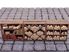 This is a set of three library shelves for diorama, Dungeons & Dragons, Wargaming, etc. This set includes a bookshelf along with two shelving uni Miniature Crafts, Miniature Dolls, Halloween Miniatures, Dollhouse Miniatures, Dnd Mini, Minis, Wargaming Terrain, 3d Prints, Tabletop Games
