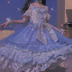 Fairytale Dress, Fairy Dress, Ball Dresses, Ball Gowns, Pretty Dresses, Beautiful Dresses, Estilo Lolita, Blue Aesthetic Pastel, Classy Aesthetic