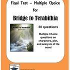Bridge to Terabithia Multiple Choice Test