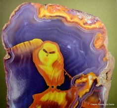 The Apache Owl - 9cm Agate slice The most beautiful and expensive picture agate ever Mascot at the Munich Show 2005