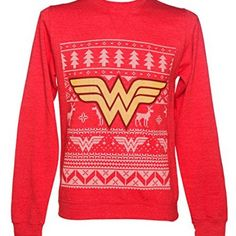Looking for nerdy Christmas sweaters for this year's holiday party? Here are the 31 best ugly nerdy Christmas sweaters for the 2019 holiday season. Ugly Xmas Sweater, Christmas Sweaters, Christmas Tops, Red Dc, Dc Comics, Suits For Women, T Shirts For Women, Christmas Comics, Superhero Gifts