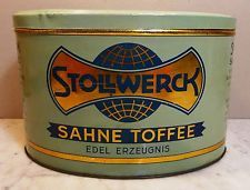 Antike Tante Emma Laden Stollwerck Sahne Toffee Blech Dose Deckeldose ~1910