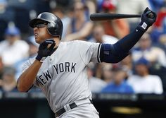 GAME 28: Sunday, May 6, 2012 - New York Yankees' Alex Rodriguez watches his three-run home run during the eighth inning of a baseball game against the Kansas City Royals in Kansas City, Mo. (AP Photo/Orlin Wagner)