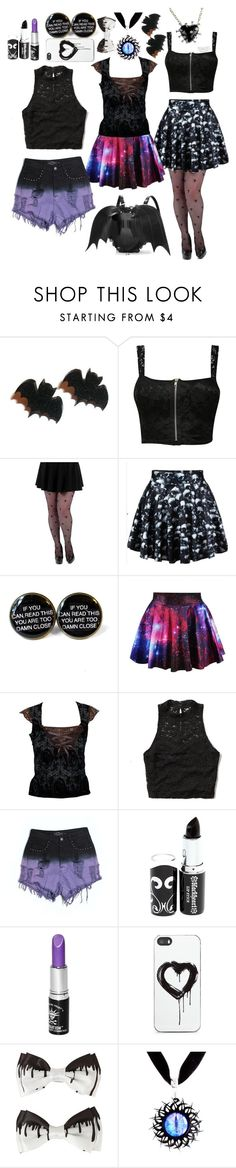 """mix and match summer goth"" by batty-belle ❤ liked on Polyvore featuring mode, Pilot, Abercrombie & Fitch, Evil Twin, Manic Panic, Zero Gravity en plus size clothing"