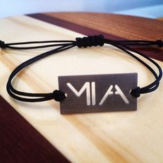 My airport series bracelet collection in titanium...starting with none other than MIA for the Magic City.
