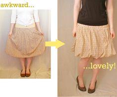 ~Ruffles And Stuff~: Very Easy Skirt Refashion
