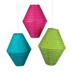 Diamond-Shaped Paper Lanterns - OrientalTrading.com - What a fun shape!