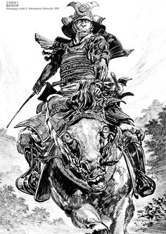 "artwatcher: """" ""Hiroshi Hirata is a Japanese manga artist best known in the United States for the samurai manga series Satsuma Gishiden. Hirata's works belong to the subset of manga known as ""gekiga"". Comic Books Art, Comic Art, Samourai Tattoo, Arte Ninja, Samurai Artwork, Japanese Warrior, By Any Means Necessary, Desenho Tattoo, Samurai Warrior"