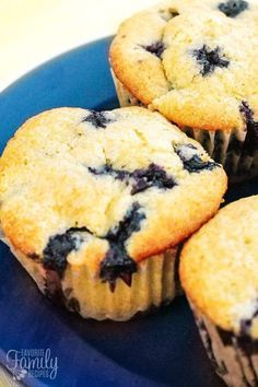 These Blueberry Muffins are made from scratch with fresh blueberries! They are by far the best muffins I have ever had, they are tart and sweet and buttery.