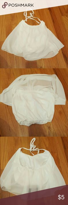 White halter crop top Purchased online and never worn. Halter crop top. fashion and girl Tops Crop Tops