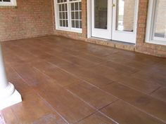 cement that looks like wood | ... deck well now concrete can be stamped and colored to look like wood