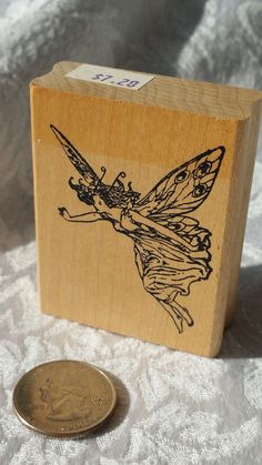 Fairy rubber stamp by Judikins 1787 F Wood Mounted, fairy stamp, magic stamp, whimsical stamp Angel stamp, Renaissance Stamp, Tooth Fairy by MyCreativePossession on Etsy