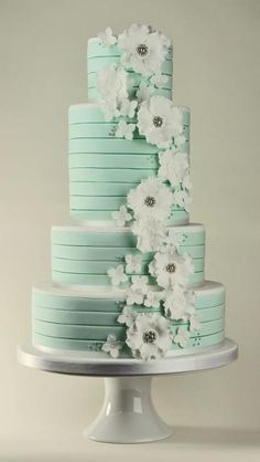 Mint wedding cake.