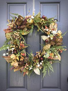 Fall Wreath Fern Wreaths Fall Door Wreaths Fall Decor Fall