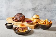 Barbecued Jacob's Ladder with kimchi slaw, milk buns, pickled beets, chips and horseradish hollandaise Hot Dogs, Milk Bun, Kimchi Recipe, Great British Chefs, Pickled Beets, Bun Recipe, Chips Recipe, Rib Recipes, Food Shows