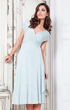 Alessandra Maternity Dress Short (Sea Breeze) - Maternity Wedding Dresses, Evening Wear and Party Clothes by Tiffany Rose.