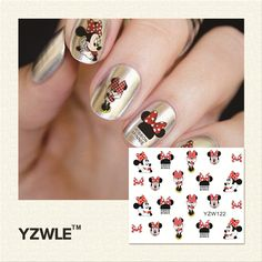 YZWLE 1 Piece Hot Sale Water Transfer Nails Art Sticker Manicure Decor Tool Cover Nail Wrap Decal (YZW122)-in Stickers & Decals from Health & Beauty on Aliexpress.com | Alibaba Group