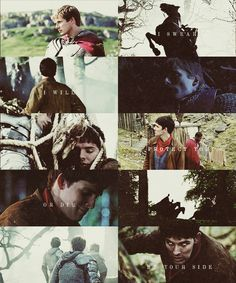 "Day 09 Favorite Merlin Quote- Arthur: ""I swear I'm going to rescue my men or die trying.""  Merlin: ""Then I swear I will protect you or die at your side"""