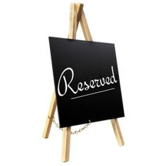 Reserved Easel Just £17.40! Next Day Delivery. Overall Size 150 x 240mm. A6 Chalkboard. Pack of 3. #wedding #tabletop #display #information
