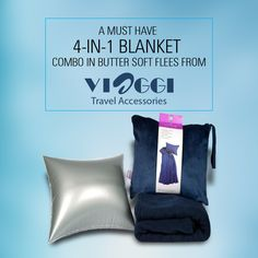 """Introducing the 4in1 Blanket, the ultimate comfort companion for people on the go. It is made from buttery soft fleece and will cover you from chin to toes Measuring a generous 45""""x60"""" this is one blanket that won't leave you out in the cold.@viaggitravelworld"""