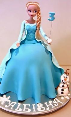 Frozen Elsa Doll Cake - How to make video tutorial. | Hot Recipes