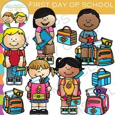 First Day of School clip art that is super cute and features kids ready for school! This First Day of School clipart set contains 18 images, which includes 9 color images and 9 black & white images in png. All clipart images are 300dpi for better scaling and printing.The First Day of School clip art set includes:* Boy sitting on stack of books with an apple* Boy ready for school with a backpack and lunchbox * Girl ready for school with a backpack and lunchbox* 2 backpacks with school supp...