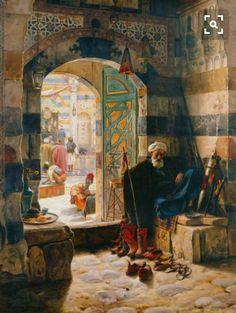 Cami ve Harem-Ludwig Deutsch Empire Ottoman, Illustrator, Islamic Paintings, Old Egypt, Arabic Art, Arabian Nights, Renoir, Islamic Art, Oeuvre D'art