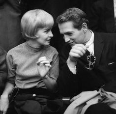 Joanne Woodward and Paul Newman photographed by Pierre Vauthey in 1958