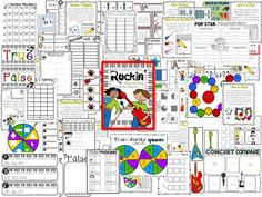 Kindergarten and 1st Grade Math Games to review the whole year of math