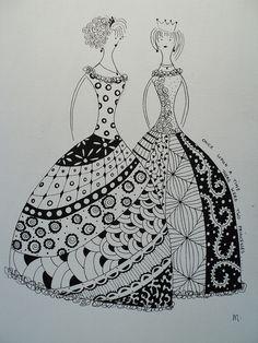 zentangle princess, i love zentangle!!