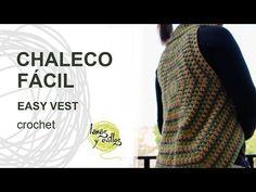 Tutorial Chaleco Crochet Fácil - YouTube