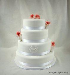 Gateau de mariage Orchidées roses