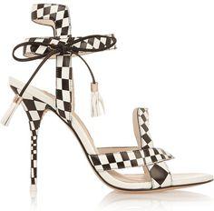 Sophia Webster Poppy Checked Sandals