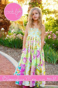 Bloomshine Maxi Dress for Girls PDF - K would LOVE