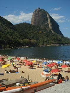 Booking my flight right now! Cold beer and bolinhos de bacalhau here I come! Praia Vermelha, Urca. Rio de Janeiro.